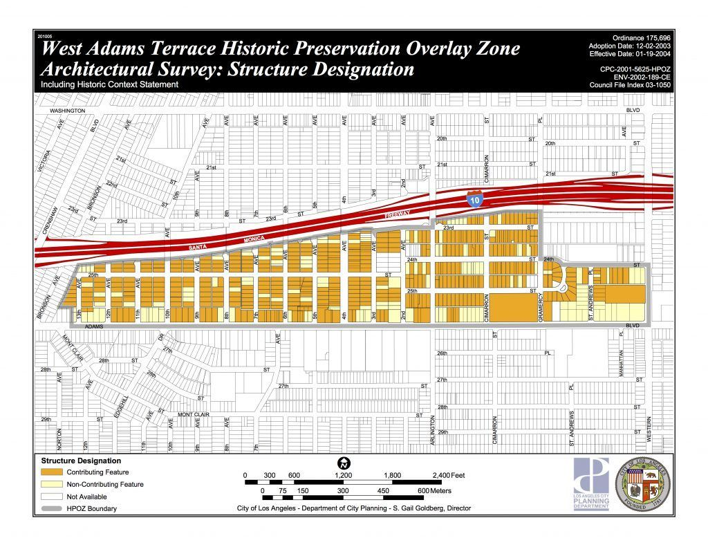 West adams terrace historic overlay zone