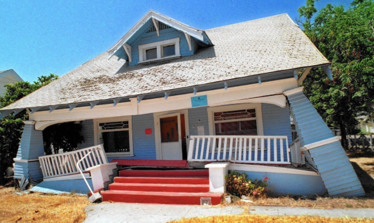 Earthquake Damaged Home Craftsman | Hancock Park, Los Angeles Real Estate Blog