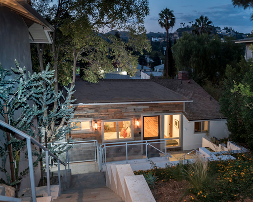 mid century modern home for sale in Los Feliz near The Cedars House