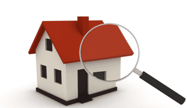 House image with magnifying glass